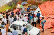 ಬಂಟ್ವಾಳ: ಬಿರುಗಾಳಿಯಿಂದ ತತ್ತರಿಸಿದ ಜನನಿಬಿಡ ಪ್ರದೇಶ ಪಾಂಡವರಕಲ್ಲುಗೆ ಶಾಸಕರ ಭೇಟಿ